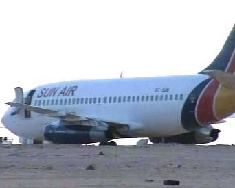 Unesené súdánské letadlo