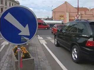 Dopravní špička v Chrudimi