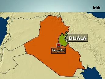 Mapa Iráku