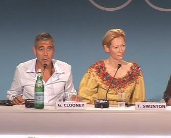 George Cloony a Tilda Swinton