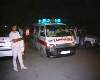 Záchranáři v Kyrgyzstánu