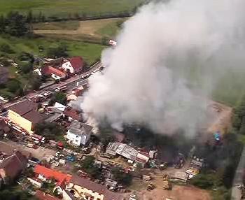 Požár v Běchovicích