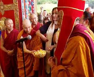 Slavnostní otevírání chrámu