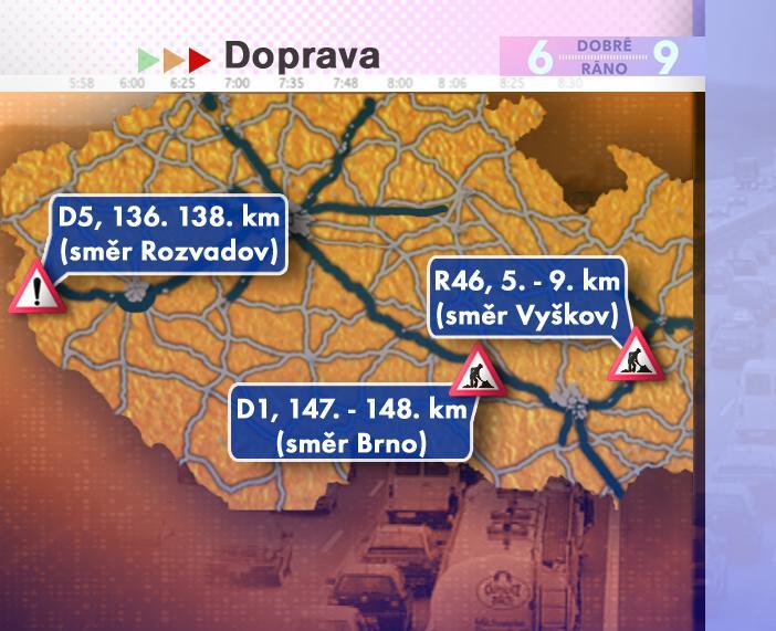 Dopravní situace v pátek 22. 8. 2008