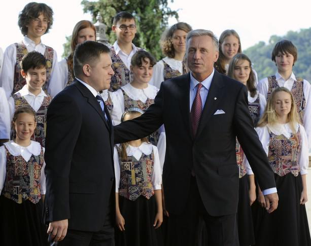 Robert Fico s Mirkem Topolánkem