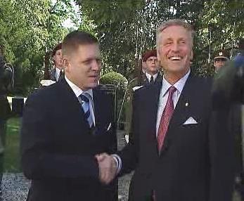 Premiéři Topolánek a Fico na pražském Klárově