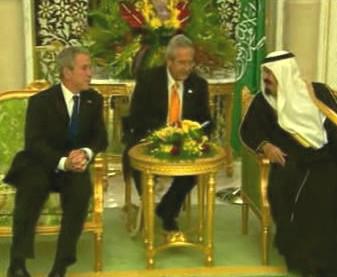 Prezident Bush na návštěvě Saúdské Arábie