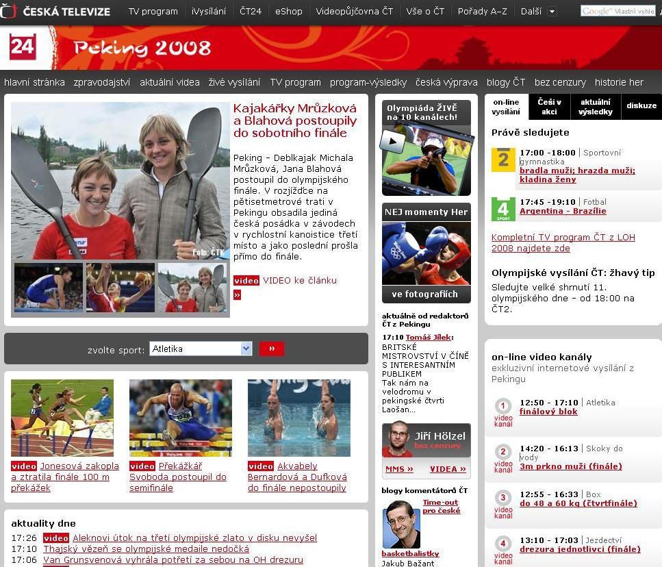 Olympijský web ČT24