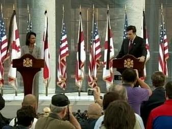 Condoleezza Riceová a Michail Saakašvili