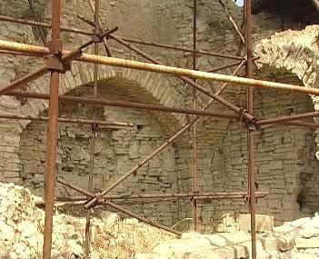 Opravy hradního interiéru