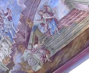 Zachovalá freska chotěšovského kláštera