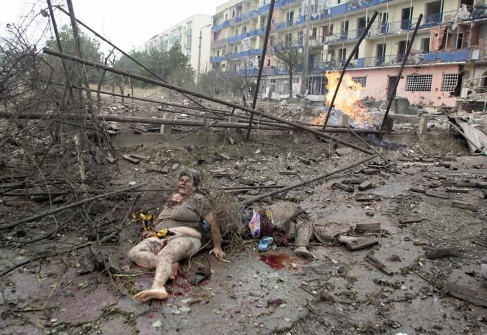 Bombardované město Gori