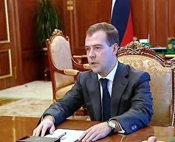 """<b>Medveděv:</b> \""""Bezpečnost našich mírových sil a civilního obyvatelstva byla obnovena, agresor byl potrestán.\"""""""