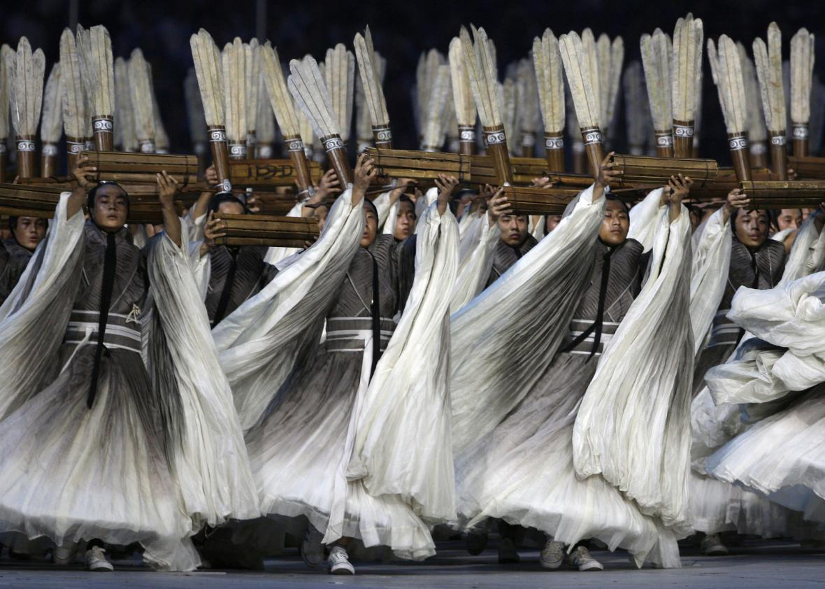 Číňané pojali ceremoniál ve velkém stylu