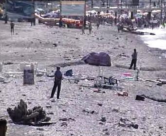 Následky výbuchu v Soči