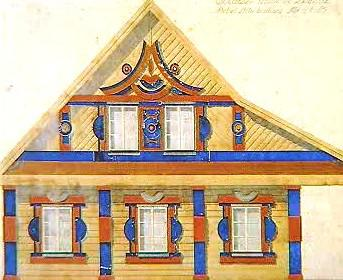 Nákres Gočárova domku