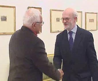 Vladimir Vereš a Václav Klaus