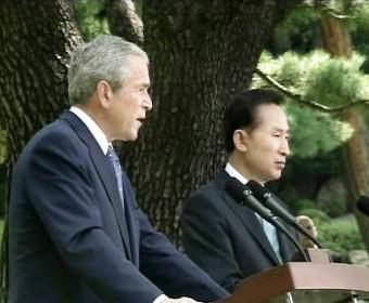 George Bush a I Mjong-bak