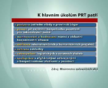 Hlavní úkoly PRT