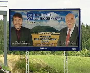 Volební kampaň Koalice pro Středočeský kraj