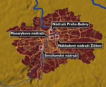Praha plánuje zrušení několika nádraží
