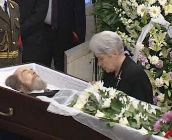 Pohřeb Alexandra Solženicyna