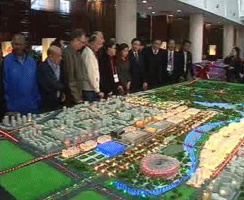 Model olympijského areálu
