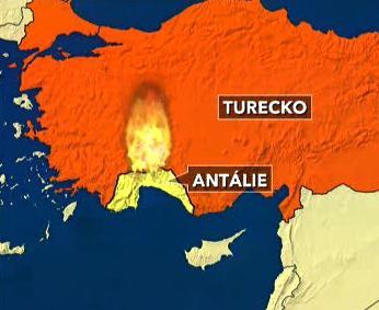 Požáry v Turecku