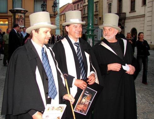 Pavel Klega, Eugen Brikcius a Martin Laštůvka