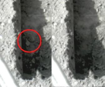 Kousky ledu na Marsu