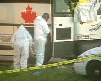 Vyšetřování vraždy v autobuse