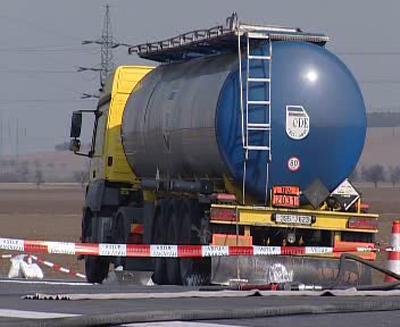 Havarovaná cisterna