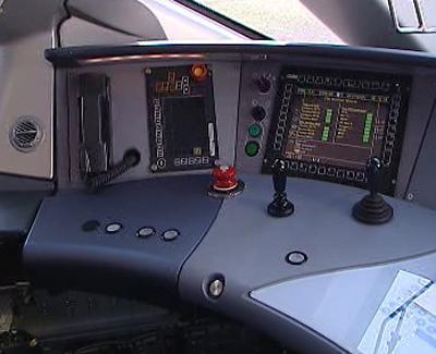 Ovládací pult rychlovlaku AGV