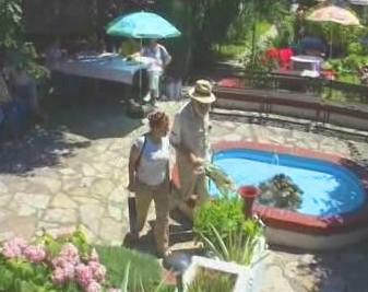 Radovan Karadžič na zahradní slavnosti
