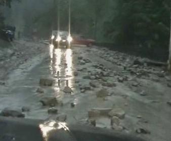 Silnice po záplavách