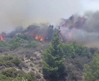 Požáry na ostrově Rhodos