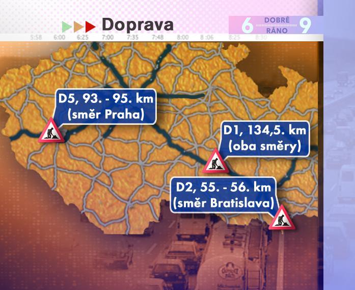 Dopravní situace v pátek 25. 7. 2008