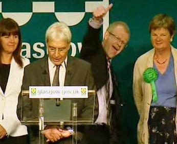 Vyhlášení výsledků voleb v Glasgowě