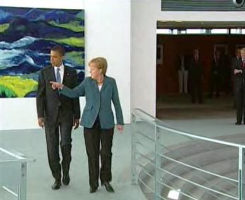 Barack Obama a Angela Merkelová
