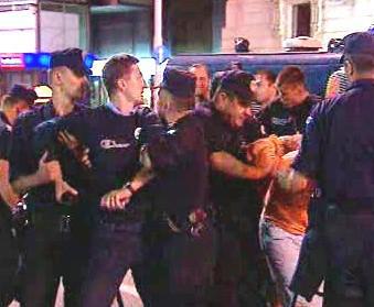 Srbská policie se střetla s demonstranty