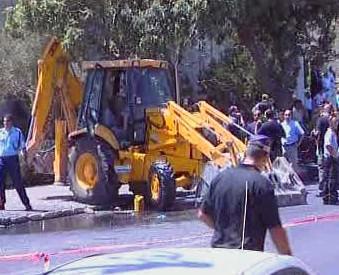 Další útok buldozerem v Jeruzalému