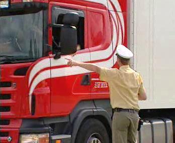 Dopravní policista při řízení dopravy