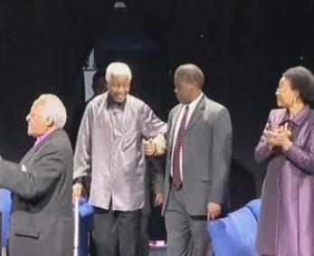 Nelson Mandela při oficiálních návštěvách
