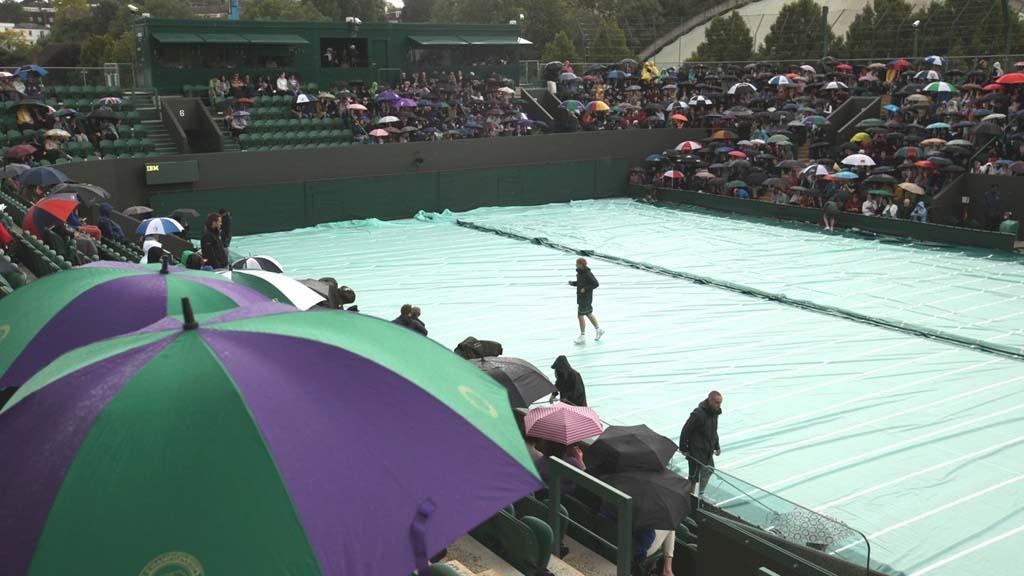Déšť ve Wimbledonu