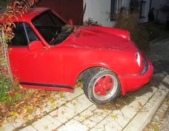 Havarované Porsche