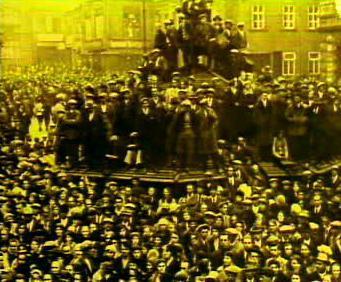 Masivní protesty za velké hospodářské krize