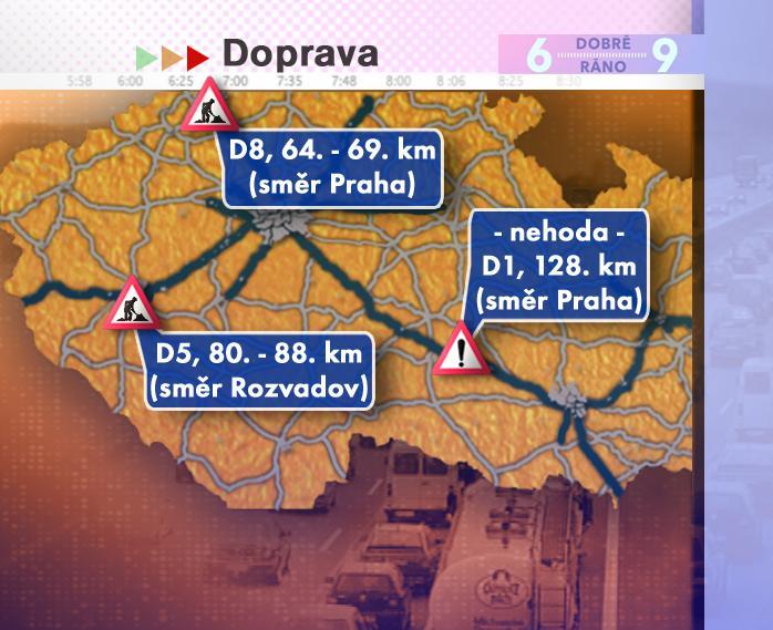 Dopravní situace ve čtvrtek 17. 7. 2008