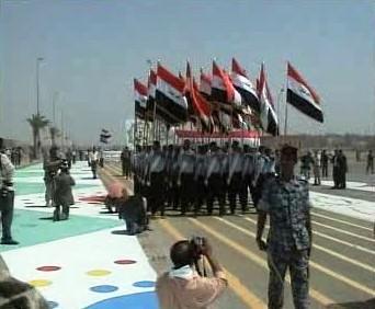 Přehlídka iráckých vojáků