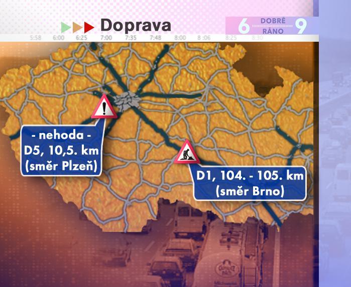 Dopravní situace ve středu 16. 7. 2008
