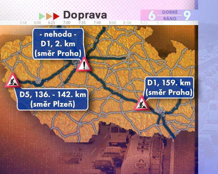 Dopravní situace v úterý 15. 7. 2008